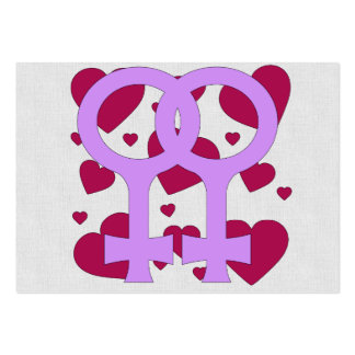 Lesbian Marriage Hearts Business Cards
