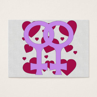 Lesbian Marriage Hearts Business Card