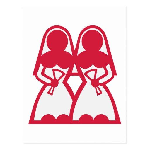 Lesbian Marriage Postcard