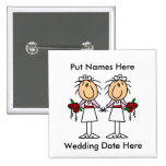 Lesbian Marriage To Customize Button