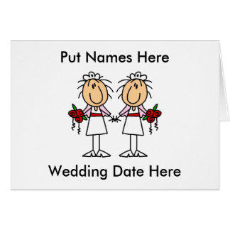 Lesbian Marriage To Customize Card