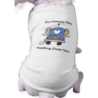 Lesbian Marriage To Customize Doggie Tee Shirt