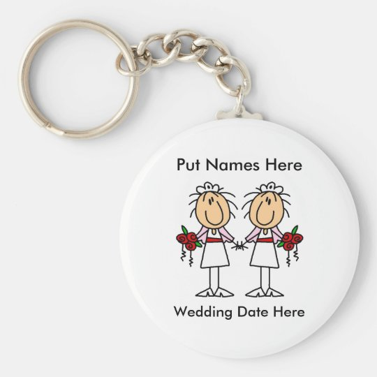 Lesbian Marriage To Customize Keychain