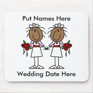 Lesbian Marriage To Customize Mouse Pad