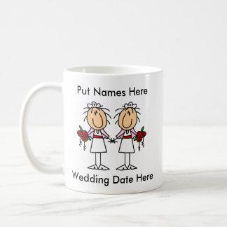 Lesbian Marriage To Customize Classic White Coffee Mug