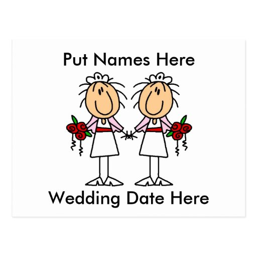 Lesbian Marriage To Customize Post Card