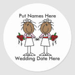 Lesbian Marriage To Customize Stickers