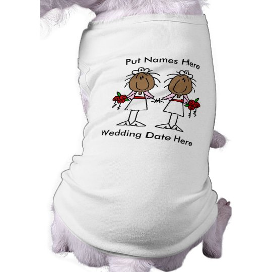 Lesbian Marriage To Customize Tee