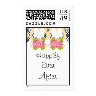Lesbian Marriage Wedding Stamp
