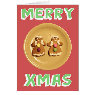 """Lesbian """"Merry Xmas"""" Card (with message)"""