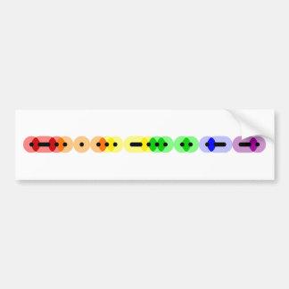Lesbian Morse Code Bar Bumper Sticker Car Bumper Sticker