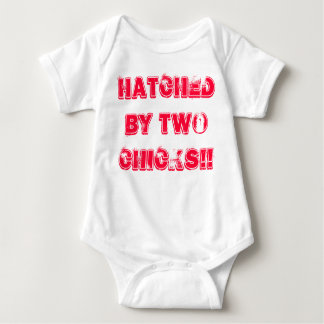 Lesbian Mums Baby Grow. Hatched by two Chicks!! Baby Bodysuit