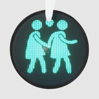 Lesbian Pedestrian Signal Ornament