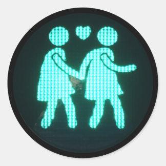 Lesbian Pedestrian Signal Sticker