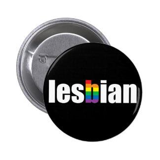 Lesbian Pride Black Button