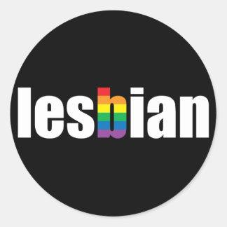 Lesbian Pride Black Sticker