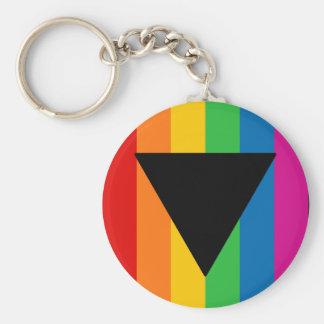 Lesbian Pride Black Triangle Keychain