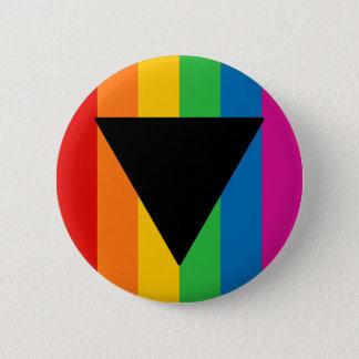 Lesbian Pride Black Triangle Pinback Button