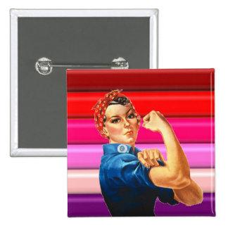 Lesbian Pride 2 Inch Square Button