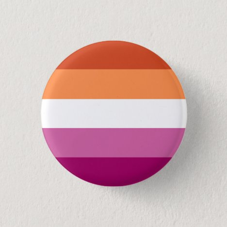 Lesbian Pride Button (Orange/Pink)