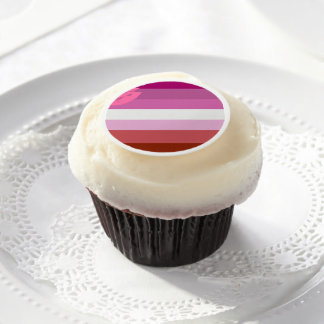 Lesbian Pride Edible Frosting Rounds