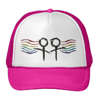 Lesbian Pride Female Symbol Trucker Hat