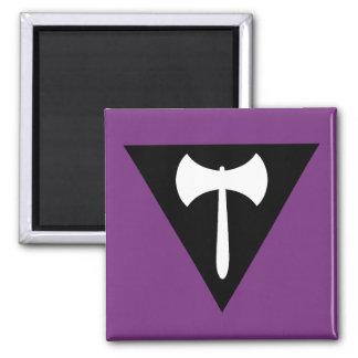 Lesbian Pride Flag 2 Inch Square Magnet