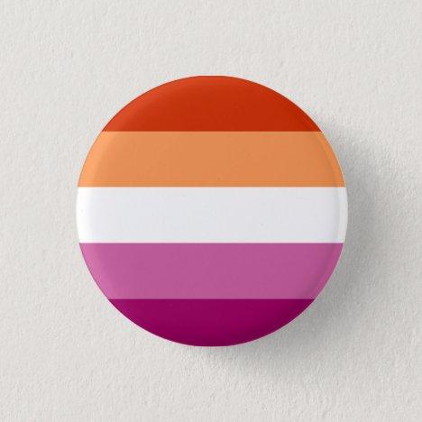 Lesbian Pride Flag Badge Button