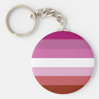 Lesbian pride flag keychain