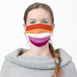 Lesbian Pride Flag LGBTQ Adult Cloth Face Mask