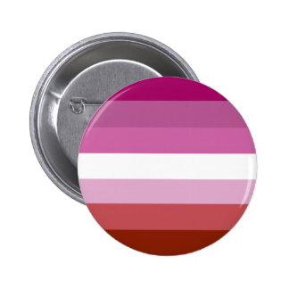 Lesbian pride flag pinback button