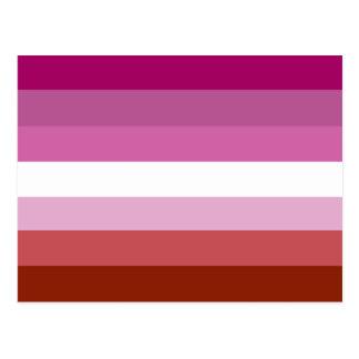 Lesbian pride flag postcard