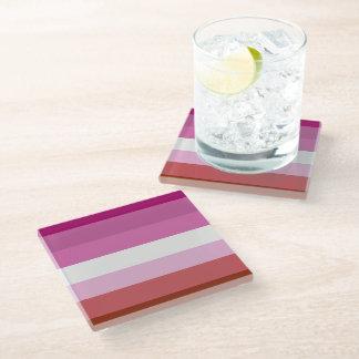 Lesbian Pride Glass Coaster
