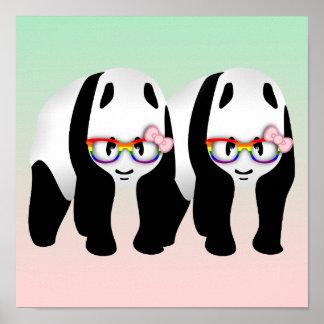 Lesbian Pride Pandas Poster