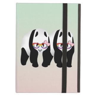 Lesbian Pride Pandas Wearing Rainbow Glasses iPad Air Cover
