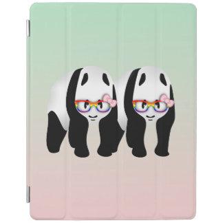 Lesbian Pride Pandas Wearing Rainbow Glasses iPad Smart Cover