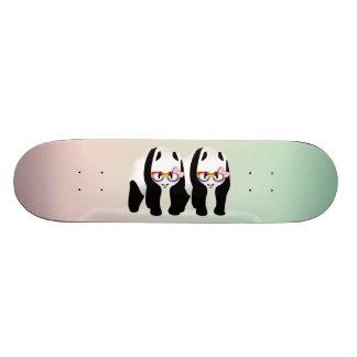 Lesbian Pride Pandas Wearing Rainbow Glasses Skateboard Deck