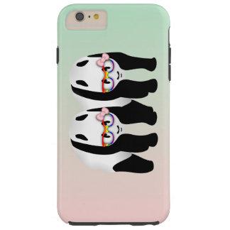 Lesbian Pride Pandas Wearing Rainbow Glasses Tough iPhone 6 Plus Case