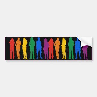 LESBIAN PRIDE -.png Car Bumper Sticker