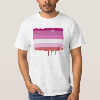 LESBIAN PRIDE STRIPES DESIGN T-Shirt