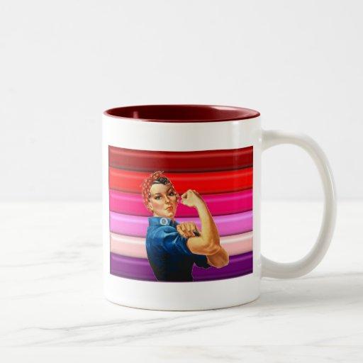 Lesbian Pride Two-Tone Coffee Mug