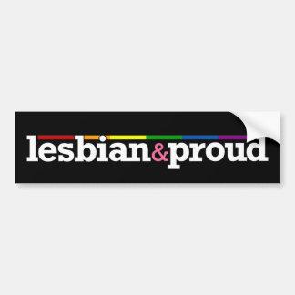 Lesbian&proud Black Bumper Sticker Car Bumper Sticker