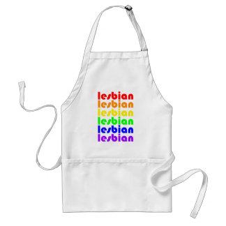 Lesbian Rainbow Adult Apron