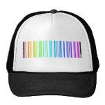 Lesbian Rainbow Barcode Trucker Hat