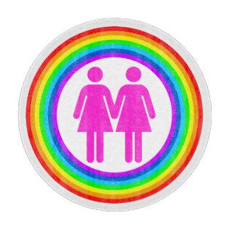 Lesbian Rainbow Couple Cutting Boards