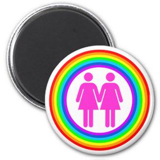 Lesbian Rainbow Couple Magnet