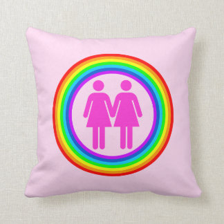 Lesbian Rainbow Couple Pillow