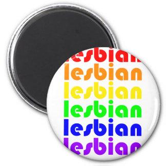 Lesbian Rainbow Fridge Magnet