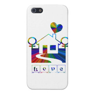 Lesbian rainbow home-LOVE iPhone SE/5/5s Case