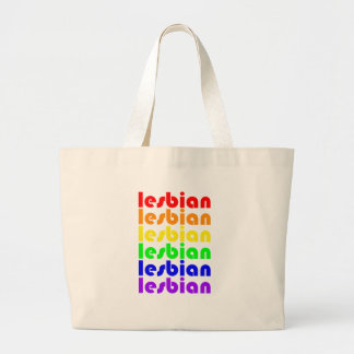 Lesbian Rainbow Large Tote Bag